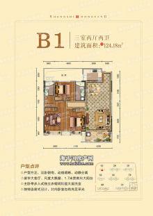 B1户型124.18平米